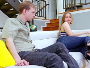 Blonde Teen Blu Monroe In Jeans Fucked By Her Horny Boyfriend