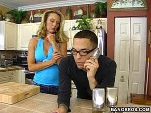 Horny Blonde Housewife Gets Fucked Good By A Young Guy