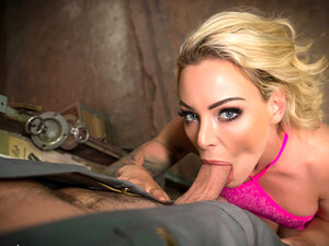 VR BANGERS Blonde Housewife Needs Help With Car