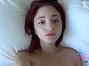 Skinny, Red Haired Babe Is Often Cheating On Her Boyfriend, Because It Excites Her A Lot
