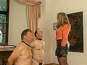 Schoolmistress Faceslap Inferno In Black Leather Gloves And Boots Part 1