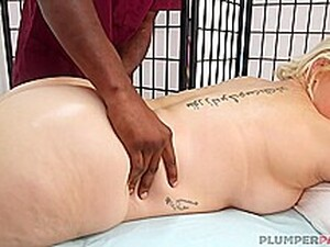 Seductive Blonde Plumper Is About To Have Casual Sex With A Black Guy Instead Of A Massage