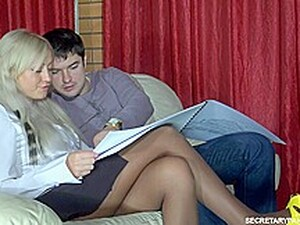 Ferro Network - Secretary Pantyhose - Monica Adam