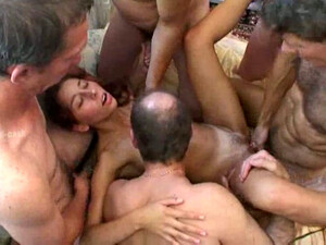 Four Cocky Coworkers Gang Bang My Petite Wife For Me