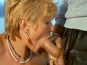 Marvelous And Hot Short Haired Blonde Milf Eats Dick On The Ferry