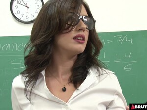Brutal Gangbang For Teacher In Classroom
