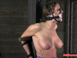 Bigtits Gagged Sub Gets Flogged And Spanked