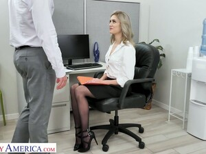 Blond Secretary Mazzy Grace Hooks Up With One Of Hot Blooded Co-workers