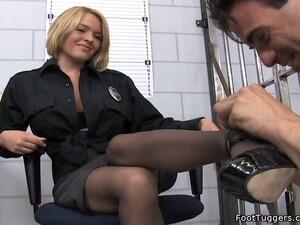 Sexy Police Girl Krissy Lynn Dominates One Horny Stud