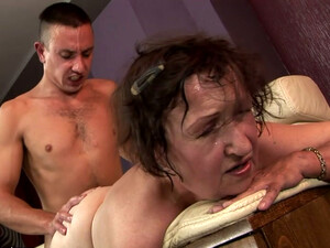 Ugly As Hell Fat Oldie Gives Rimjob And Gets Pounded From Behind Tough