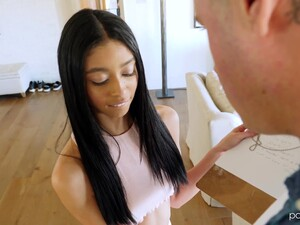 Petite Latin Babe Jada Doll Has A Crush On Tall Handsome Designer Danny Mountain