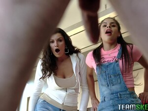 Stepmom And Stepsister Help Juan El Caballo To Get Rid Of A Boner