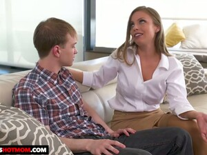 Fake Tittied Stepmom Britney Amber Seduces Her Nerd And Timid Stepson