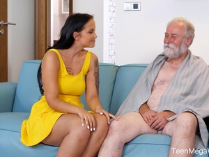 An Old Man Is Seduced By A Tall Curvy Young Woman And That Babe Loves Sex