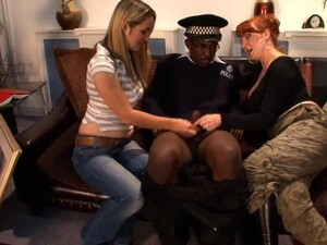 Black Cop Gets His Dick Jerked Off By Mature Red And Annabelle