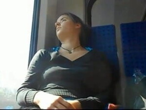 Brunette Teen Sleeping On The Train