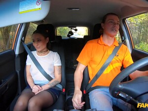 First Driving Lesson And This Shy Teen Already Wants The Dick