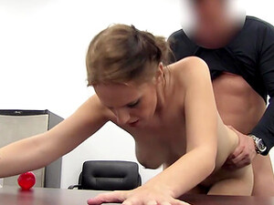 Casting Guy Busts A Nut Up Her Tight Slutty Asshole