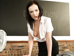 Teacher Teases You With Her Cleavage In Detention