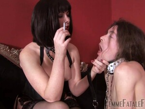 Facesitting Is Fascinating With Dominant Costumed Brunette Mistress Abaddon