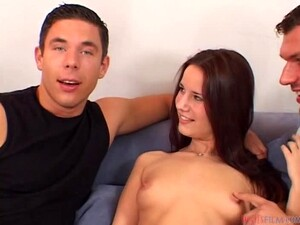 Kinky Euro Teen Claudia Rossi Taking A Double Penetration Fuck