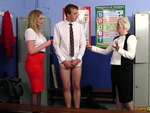 Small Cock Man Gets His Dick Pleasured By Holly Kiss And Sally Cream