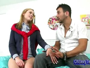 Shy Young Blonde Girl Has A Crush