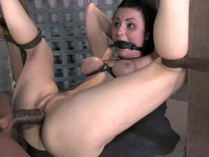 Tightly Bound Brunette Hottie Veruca James Gets Banged In Mish Style Hard