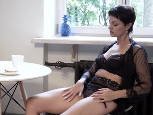 Wondrous Alone Dark Haired Housewife Daryna Feels Horny About Solo Show