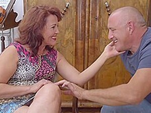 Insatiable Mature Woman With Red Hair Is Having Wild Sex With An Elderly Man From The Neighborhood
