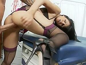 Shy Love - Big Tit Lingerie-Clad Doctor Sucks And Fucks New Patient
