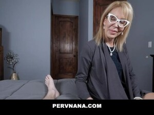 PERVNANA- HORNY COUGAR MILF SUCKS YOUNG COCK