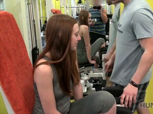 Frivolous Red Head Gets Her Pussy Fucked For Cash At The Gym