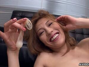 Fun Loving Sex Crazed Vixen Sally Yoshino Loves That Cum Filled Condom
