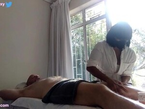 South African Massage Room Hidden Camera Surprise Happy Ending