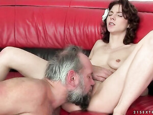 Grandpa Cums Inside Young Cunt He Fucks