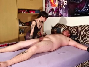 Goth Domina Biting Her Tied Out Slave Body Amp Cock Pt2 HD