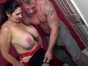 Voluptuous Brunette With Big, Saggy Tits, Josephine James Likes To Suck Cock Before Getting Stuffed