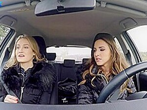 Hitchhiker Tiffany Tatum Making Out With The Driver Amirah Adara