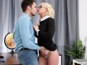 Naughty Nerdy Secretary Angelika Cristal Wanna Be Fucked In Standing Pose
