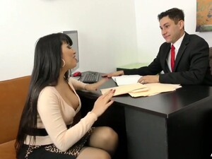Fabulous Brunette Milf Having Wild Sex With Her Colleague In The Office