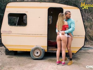 Russian Blonde Selvaggia Hard Outdoor Pounding