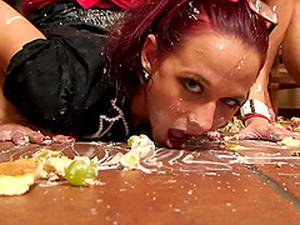 Food And Champagne Make For A Messy Orgy Scene