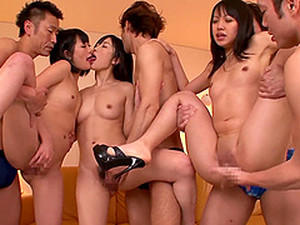 Hot Group Sex Reality With Naughty Japanese Babes In Pov