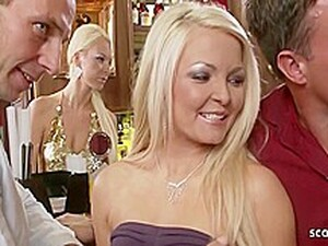 Astonishing Blondes Are Eager To Suck Dicks And Have Group Sex With Many Horny Guys