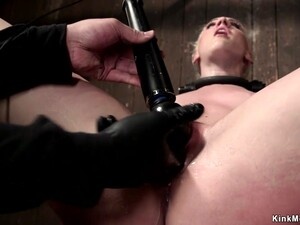 Blonde Made Squirt On Device Bondage
