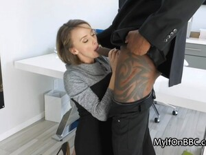 Big Tit Boss Milks Studs BBC On Job Interview