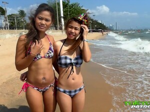 Tourist Picks Up Two Naughty Thai Girls And Fucks Their Yummy Pussies