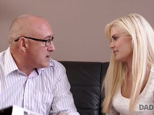 Fervent Hungarian Blondie Candee Licious Gets Intimate With Step Daddy Of Her Boyfriend