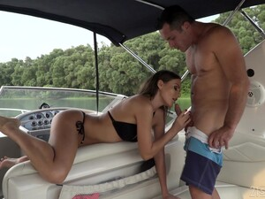 Libidinous Babe Tina Kay Gives A Blowjob And Footjob On A Yacht